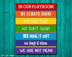 Kids Playroom Signs Playroom Rules Sign Wall Art Kids Room Decor Rainbow Playroom Sign Playroom Decor Playroom Wall Art In Our Playroom We Home Remodeling School Near Me