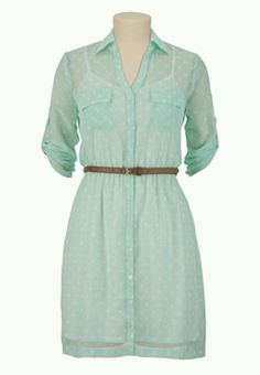 Mint and white polka dotted dress...graduation? Yes!