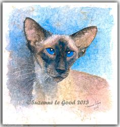 LARGE LIMITED EDITION SIAMESE CAT PAINTING PRINT FROM ORIGINAL SUZANNE LE GOOD | eBay