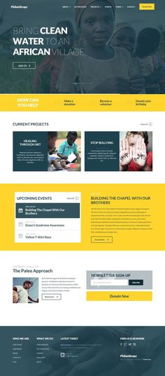 10+ BEST CHARITY WORDPRESS THEMES 2014 #web #design