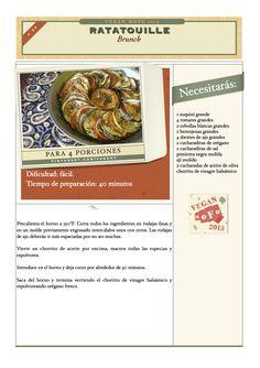 """Este es el plato con el que la pequeña rata Remy ganó el título de """"mejor chef de Francia"""". Sigan los pasos del roedor y disfruten :)"""
