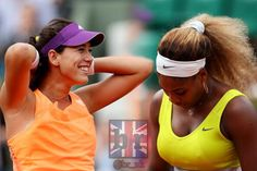World #1 Serena Upset By Garbine Muguruza 2nd Rd of French Open. Who's happier than Garbine? Maria Sharapova, the tennis channel staff, & espn commentators are simply giddy. 5/28/14