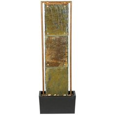 """Slate and Copper 48 1/2"""" High Floor Fountain $249  48 1/2"""" Verda picked, copper will match the metal art peice from Dianna"""