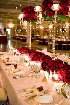 vintage wedding decoration ideas impressive table centerpieces flower arrangements red roses