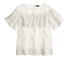 Such a pretty eyelet flounce top by J.Crew