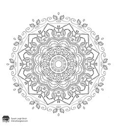 Free coloring mandala!  Click for bigger version.  #coloring #mandala