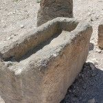 The style of manger Jesus would have been laid in.  #Bible #archaeology #Bible #Christmas