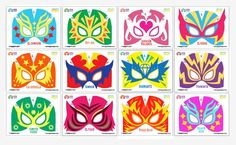 Make your own: 12 printable Lucha libre mask, cuff  templates!  .....these are SO COOL and they don't cost anything!!!