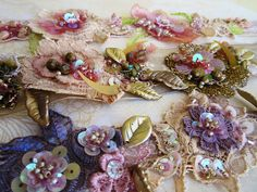 Embroidered trims by Magical Mystery Tuca, via Flickr  Check out this site; this woman does beautiful work.