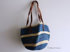 FREE US SHIPPING Vintage sisal jute woven bag by TribesandThings, $36.00