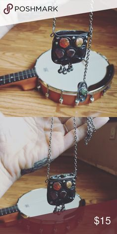 Canister hippie necklace Removable lid. Long necklace. Like new Jewelry Necklaces
