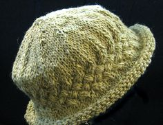 Knitting-Ravelry: Braided Brimmed Hat pattern by Marianne Garrison Knitting Patterns Free, Knit Patterns, Free Knitting, Knit Or Crochet, Crochet Hats, Crochet Brimmed Hat, Crochet Granny, Hand Crochet, Baby Hats Knitting