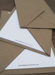 Brown Ribbed Kraft Envelopes look great with greetings cards printed on our Cocoon Recycled card.