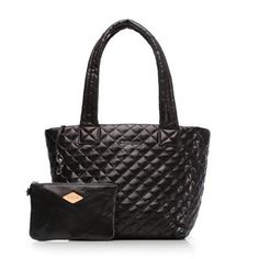 MZ Wallace | Black Leather Metro Tote