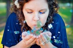 """Gender Reveal Portraits - """"It's A ??"""" Confetti for boy or girl !!"""