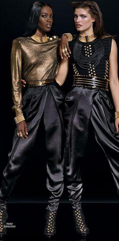 Balmain H&M FW2015 RTW Collaboration | Purely Inspiration http://www.elle.com/fashion/news/g27148/balmain-hm-collaboration-lookbook/