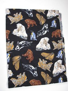 Vintage Critter Fabric 9'x3.5' Baby Walrus, Trending Outfits, Unique Jewelry, Handmade Gifts, Fabric, Vintage, Etsy, Kid Craft Gifts, Tejido