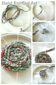 hand knitting art