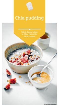 #chia #pudding #petitdejeuner #terrevivante Chia Pudding, Bio, Panna Cotta, Breakfast, Ethnic Recipes, Eat Healthy, Morning Breakfast, Recipe, Chia Pudding Breakfast
