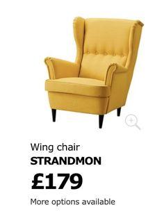 Wing Chair, Armchair, Living Room, Yellow, Wood, Furniture, Home Decor, Sofa Chair, Single Sofa