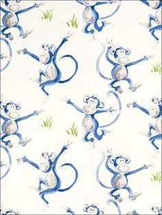 Cheeky Monkey Laura Ashley Wallpaper