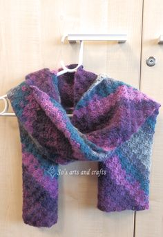 diagonal pattern scarf - Alize Angora Gold thread