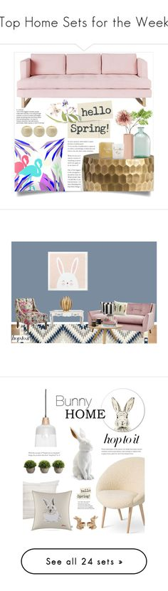 """Top Home Sets for the Week"" by polyvore ❤ liked on Polyvore featuring interior, interiors, interior design, home, home decor, interior decorating, Gus* Modern, Pottery Barn, Wyld Home and Pier 1 Imports"