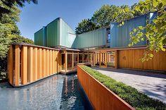 On instagram by designmilk  #homedesign #metsuke (o)  http://ift.tt/1NWrqxk  Perused @bobgundu's portfolio and found (and love!) the #modern #moat surrounding this #home.