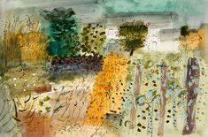 Locmariaquer, Brittany Print by John Piper. A high quality giclée reproduction from the mixed media on paper produced by John Piper Landscape Artwork, Landscape Drawings, Abstract Landscape, Abstract Painters, Landscapes, John Piper Artist, Pen Sketch, Royal College Of Art, Illustration Art