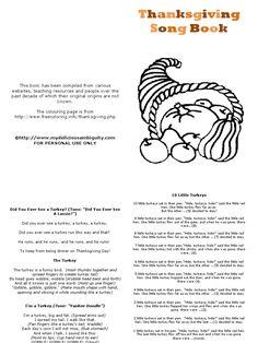 Thanksgiving Song Book   PDF