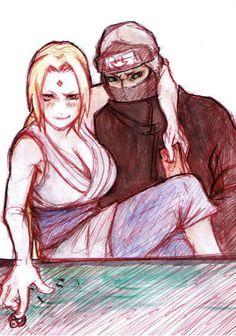 Tsunade and Kakuzu. She's using Kakuzu's Akatsuki ring XD