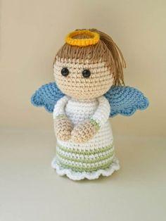 patrón de ángel amigurumi crochet