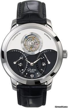 Glashütte Original PanoTourbillon XL - Manual $101,840 #Glashütte #watch #watches #chronographes  Caliber 41-03 contains 35 jewels & 2 diamonds