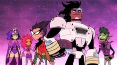 This is a photo taken to my TV while I was watching the Teen Titans GO! episode The Night Begins to Shine aired on Cartoon Network. When Cyborg . Teen Titans GO!: The Night Begins to Shine Teen Titans Raven, Teen Titans Fanart, Cartoon Cartoon, Gremlins, Teen Titans Go Episodes, Cartoon Network, Night Begins To Shine, Mixtape, Comic News