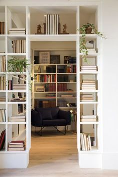 8 Creative And Inexpensive Tricks: Macrame Room Divider room divider plants outdoor living.Room Divider With Tv Products vintage room divider small spaces. Home Library Design, Design Room, Home Interior Design, House Design, Home Library Decor, Modern Library, Wall Design, Living Room Decor, Bookshelf Living Room