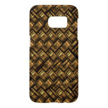 Cool Abstract Retro Modern Trendy Weave Pattern Samsung Galaxy S7 Case