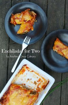 Pumpkin Enchiladas are a delicious comfort food to enjoy for supper. Make enough for two or enough for a crowd.