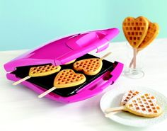Heart shaped waffle maker   $30