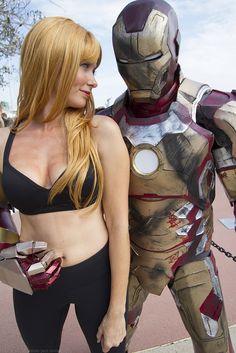 Pepper Potts & Ironman cosplay