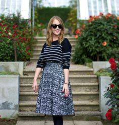 Pattern mix: Stripes and jacquard