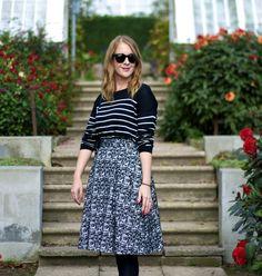 Pattern mix: Stripes and jacquard