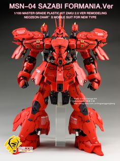 GMG 1/100 Sazabi Formania Ver.    Modeled by lingjianggongfang   MG 1/100 Zaku 2.0 Ver. Remodeled... Very awesome!       CLICK HERE TO VIEW...