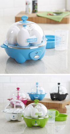 Rapid Egg Cooker // makes perfect eggs every time & quicker than boiling eggs in water!  I NEED THIS.