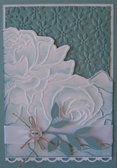 simple and elegant card using the Manhattan Flower embossing folder. Could be used for so many occasions
