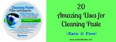 20+ uses for the Norwex Cleaning Paste.  Can't wait to try it on my white boards that have permanent marker on them.