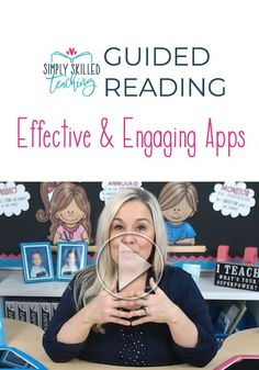 Are you looking for some good Guided Reading Apps to use for your students?I want to share with you 4 Effective and Engaging Guided Reading Apps that I used in my own classroom that you can use on your iPads, iPhones or iPods during small group instruction. #guidedreading #guidedreadingthatworks #guidedreadingAPPS
