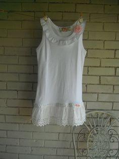 upcycled tank top shabby chic womens boho clothing by ShabbyRoad, $34.00