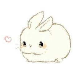 Cute Kawaii Animals, Cute Animal Drawings Kawaii, Cute Little Drawings, Cute Cartoon Drawings, Cute Little Animals, Kawaii Doodles, Cute Doodles, Bunny Art, Cute Bunny