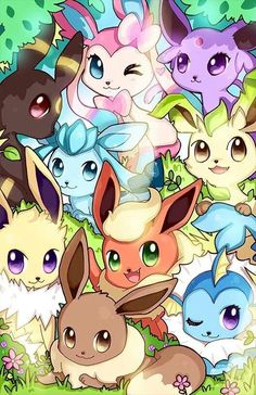 Pokemon - Eeveelutions are so cute ! Pokemon Fan Art, Pokemon Go, Digimon, Evoluções Eevee, Mudkip, Tous Les Pokemon, Pokemon Mignon, Photo Pokémon, Chibi