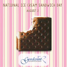 National Ice Cream Sandwich Day with Goodcount, daydreaming about these sweet summertime treats! Visit us online Unusual Holidays, Wacky Holidays, Sandwich Day, Crystal Awards, 3d Laser, Crystal Gifts, Laser Engraving, Summertime, Personalized Gifts